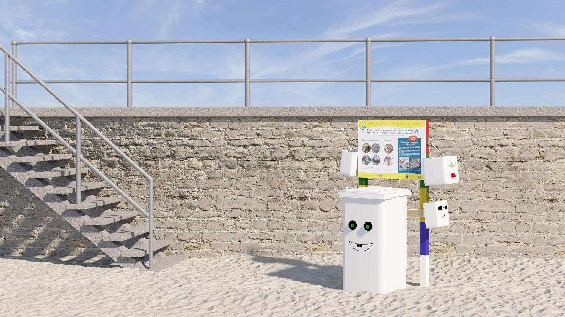les-bidons-de-compagnie-free-spirited-nettoyer-plage